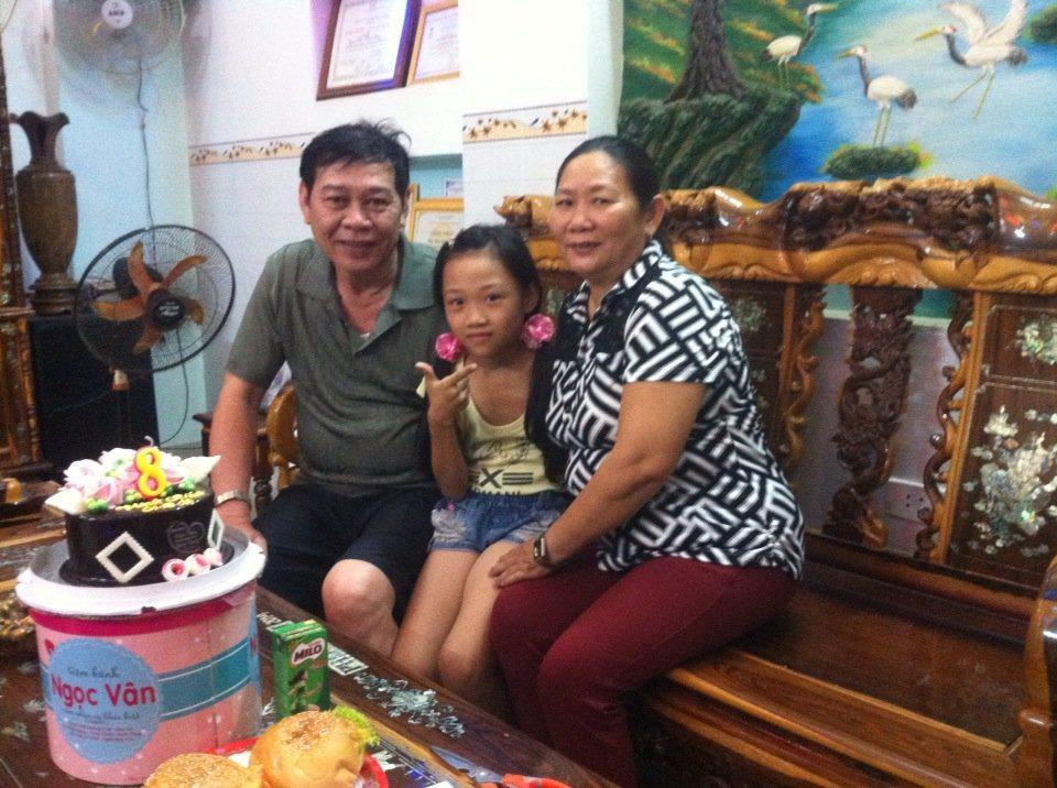 Ảnh anh Phong cùng gia đình
